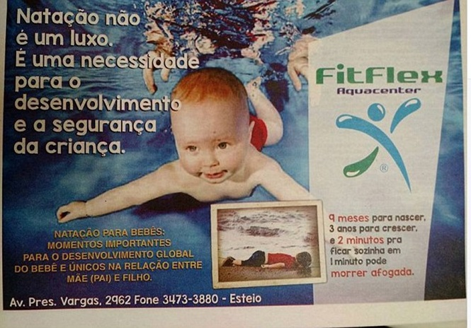 Escola brasileira de natação usa criança síria morta afogada para atrair novos alunos