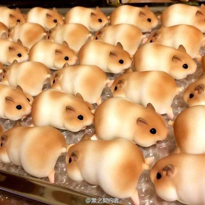 Você comeria um pão com formato de hamster?