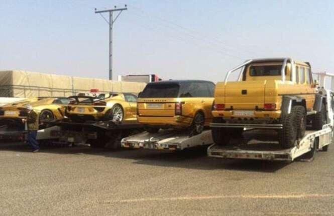 Playboy da Arábia Saudita exibe coleção de carros de ouro