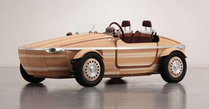 Toyota cria carro feito de madeira