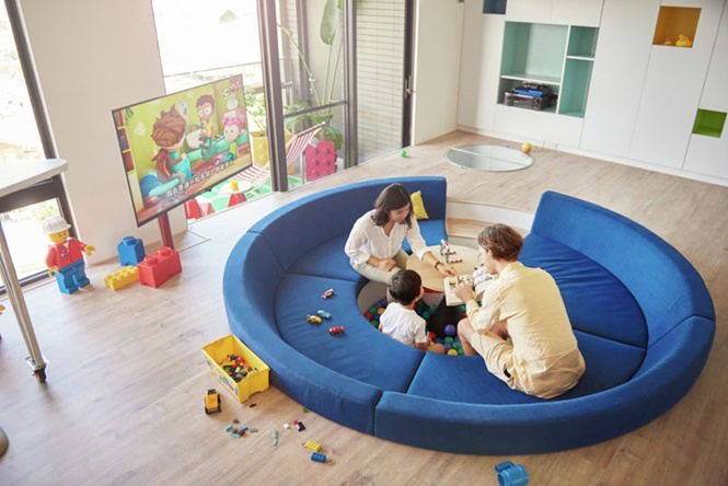 Apartamento inspirado em Lego é o sonho de qualquer criança