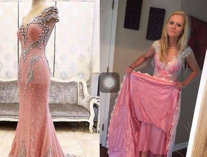 Adolescente compra vestido dos sonhos pela internet e tem enorme decepção