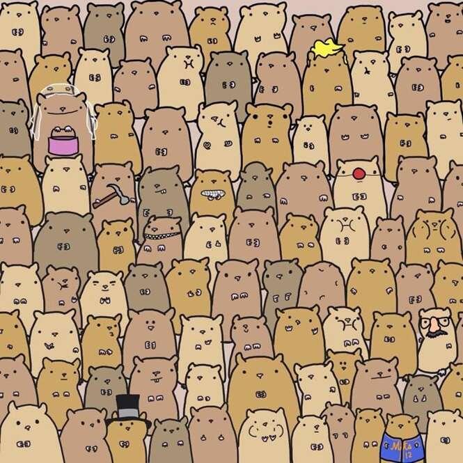 Você consegue encontrar a batata no meio dessas criaturas?