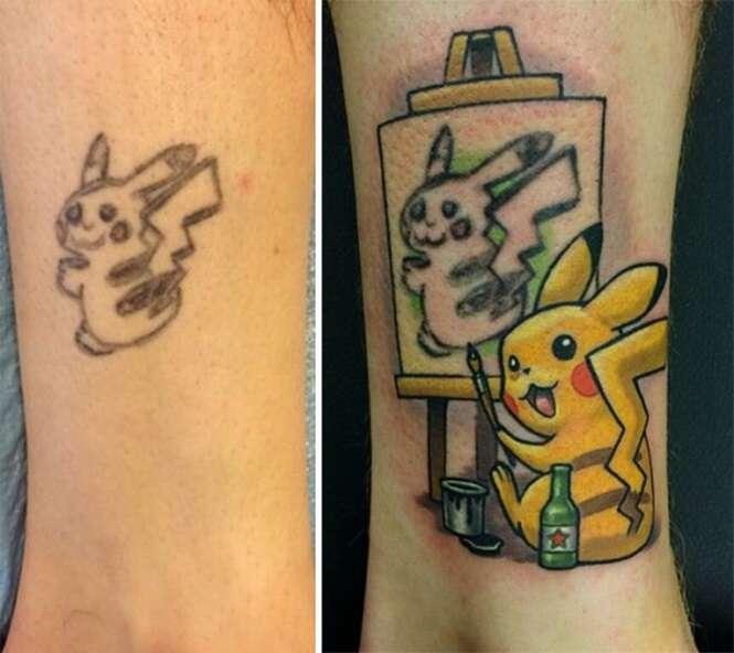 Tatuagens cobertas que ficaram melhores que as originais