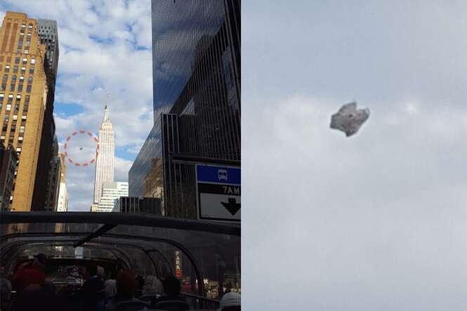Suposta nave alienígena é flagrada no céu de Nova York