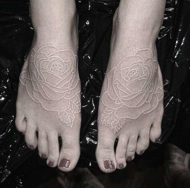 Tatuagens em branco para quem gosta da discrição