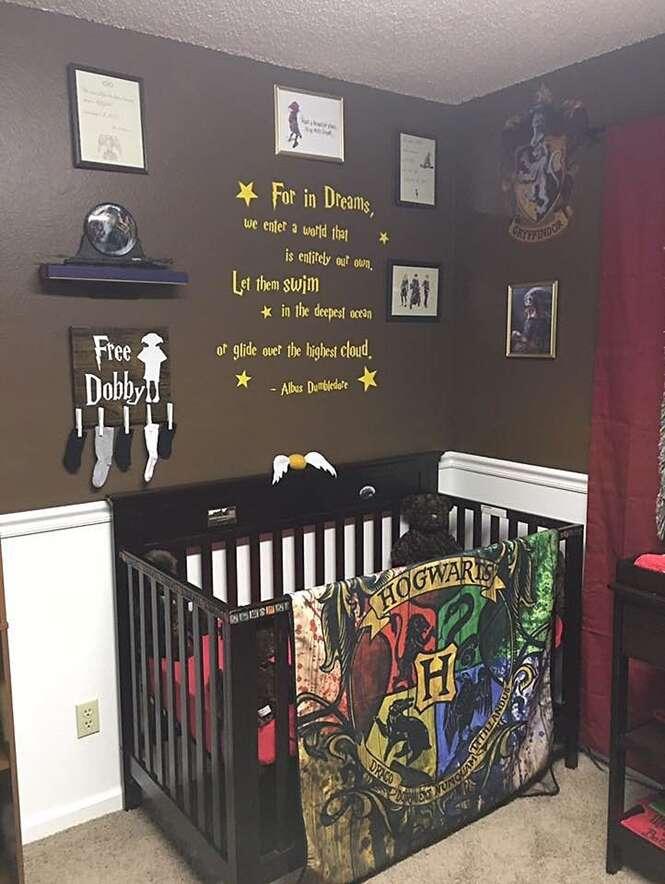 Pais se inspiram em Harry Potter para decorar quarto do bebê