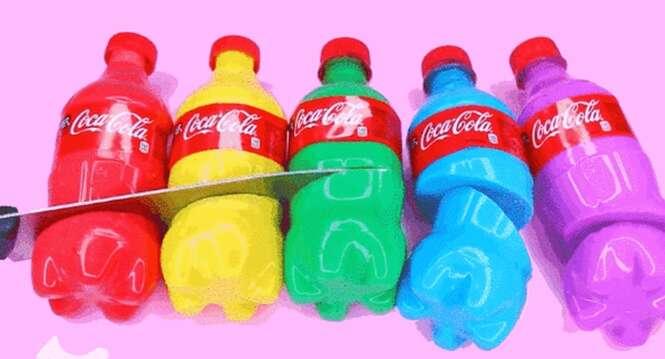 Nova mania na internet: recriar garrafas de bebida feitas de gelatina