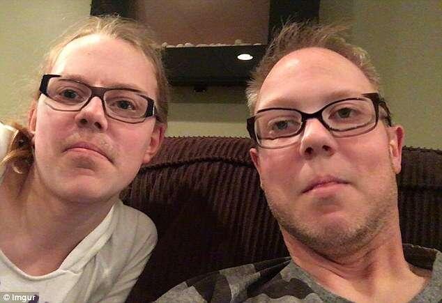 Foto de incrível semelhança de pai e filha após trocarem de rosto em aplicativo de celular bomba na internet