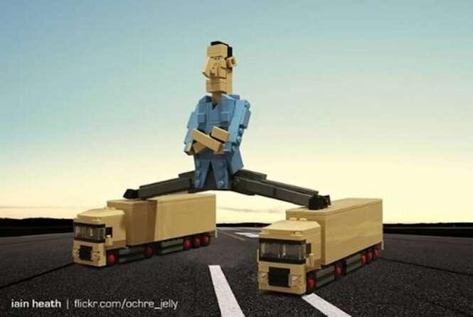 Momentos da cultura pop recriados em Lego
