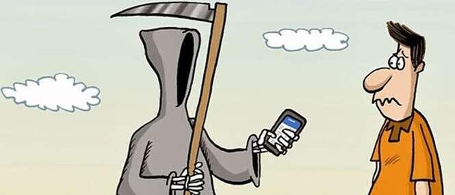 Mortes chocantes de pessoas viciadas em celular