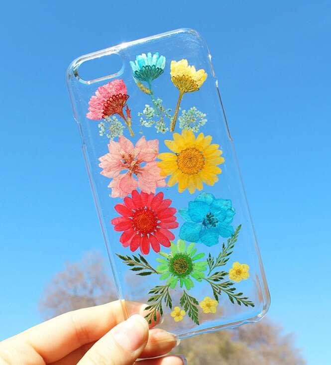 Temas floridos de case para celulares inspirados na primavera