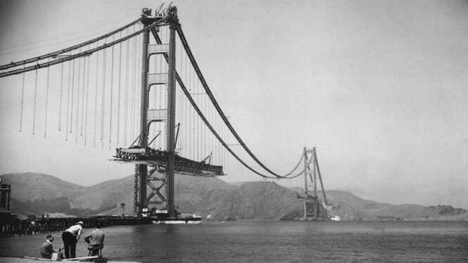 Imagens raras de construções famosas sendo erguidas