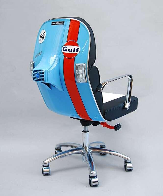 Retorno das Vespas: motos antigas são transformadas em cadeiras