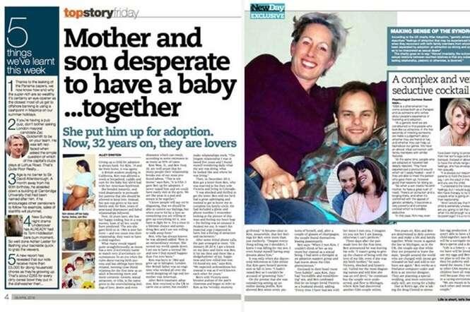 Mãe reencontra filho biológico e inicia romance com rapaz