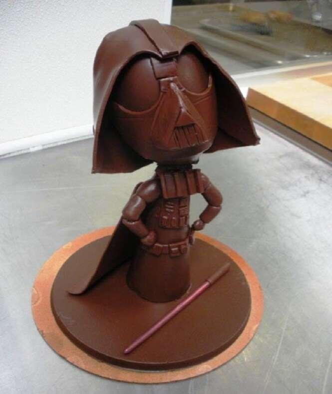 Coisas incríveis feitas de chocolate