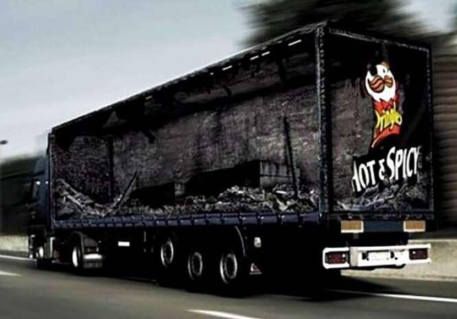 Os melhores anúncios feitos em caminhões