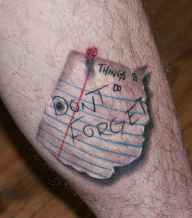 Tatuagens extremamente realistas