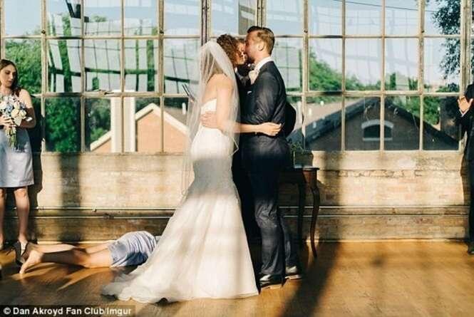 Fotos hilárias e estranhas registradas em casamentos