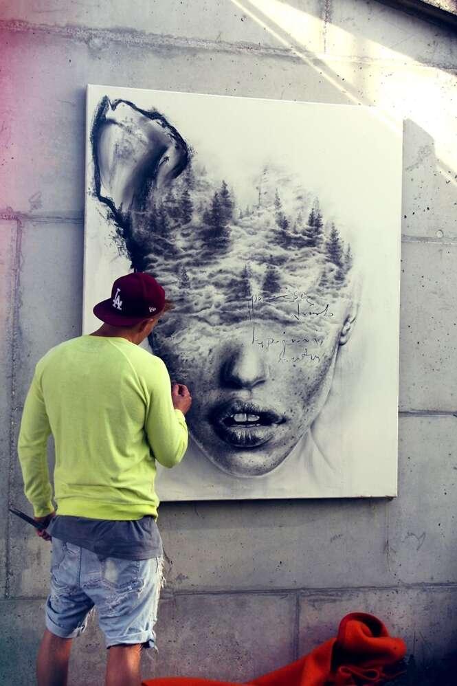 """Artista cria pinturas incríveis explorando """"tragédias"""" na vida das pessoas"""