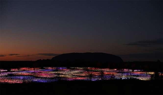 Artista usa mais de 50 mil luzes em deserto para criar cenário espetacular