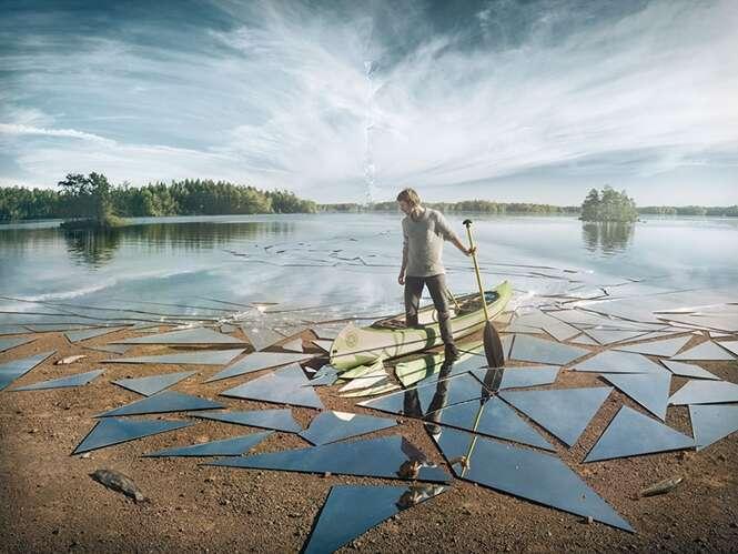 Fotógrafo registra cenas fantásticas usando espelhos