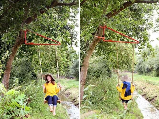 Produto transforma qualquer poste ou árvore em suporte para balanço