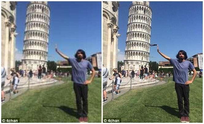 Jovem pede ajuda para internautas editarem sua foto fracassa durante visita turística à Itália