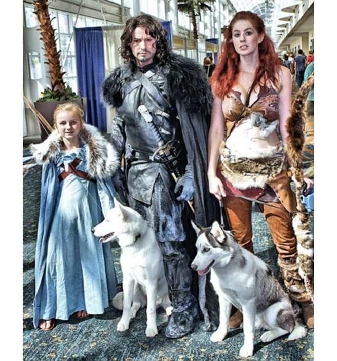 Famílias que adoram o mundo cosplay