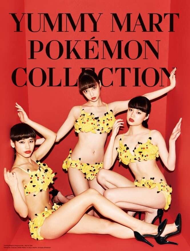 """Marca japonesa lança linha de roupas """"sensuais"""" inspirada em Pokémon"""