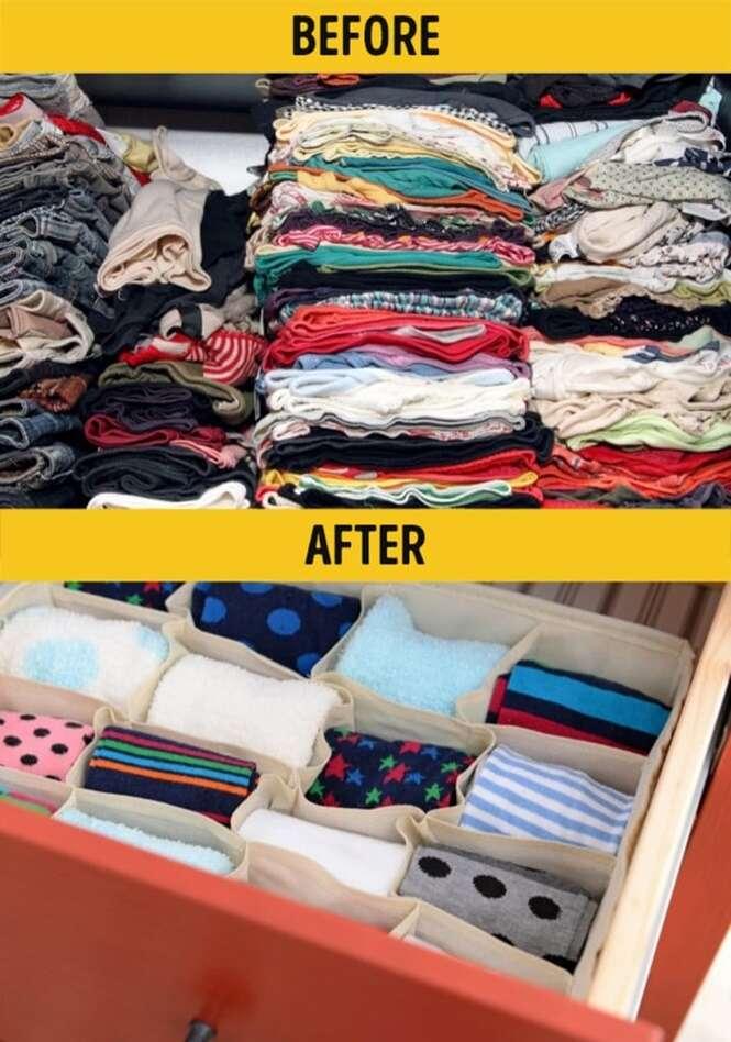 Maneiras de organizar as coisas em casa