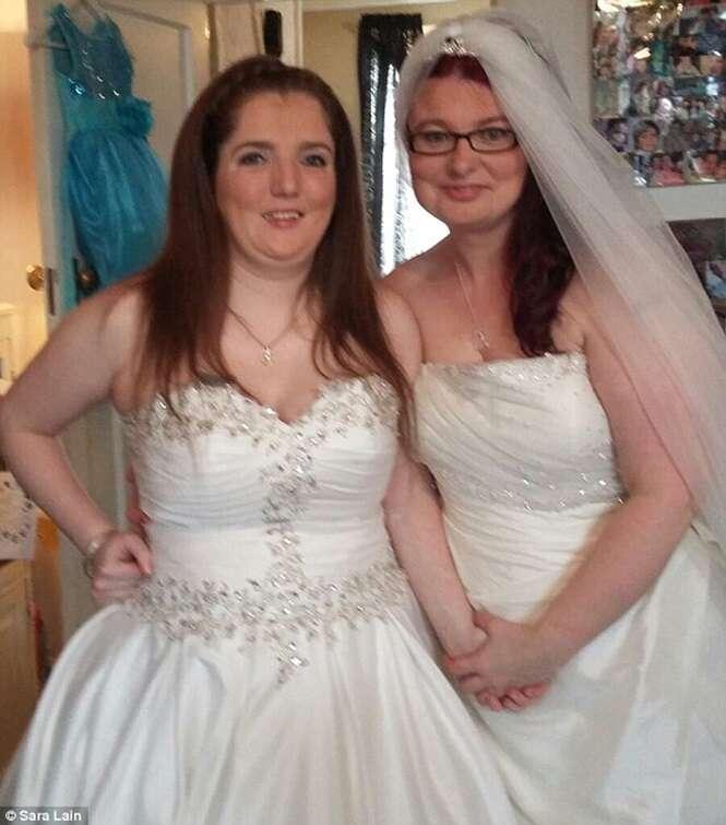 Foto: Elizabeth (esquerda) e Elaine (à direita)