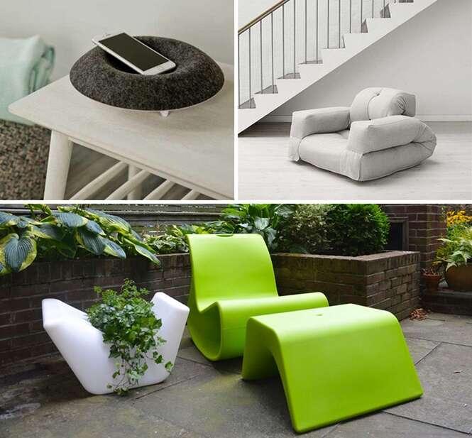 Ideias de mobílias versáteis e multifuncionais