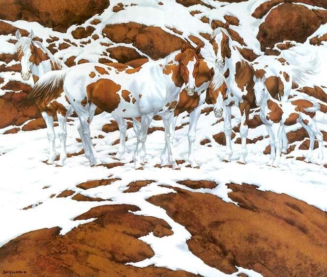 Quantos cavalos você vê na imagem?