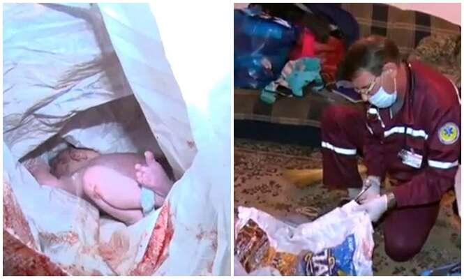 Recém-nascida é abandonada pela mãe em banheiro imundo