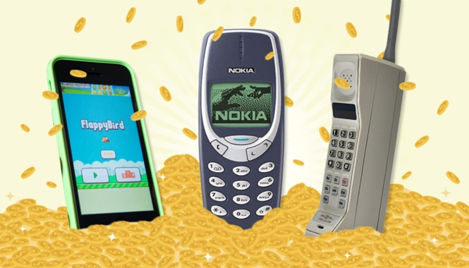 Telefones celulares ultrapassados que valem um bom dinheiro
