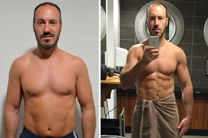 Homem perde metade da gordura corporal em 8 semanas