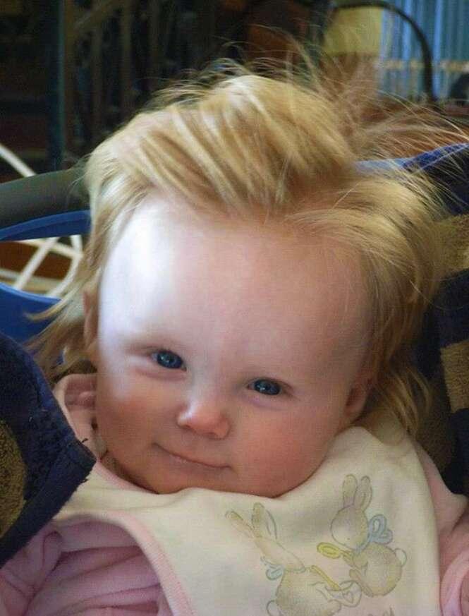 Bebês que nasceram cabeludos