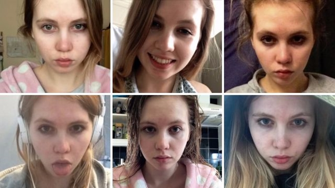 Estudante documenta em série de selfies seu declínio físico e mental durante o estresse dos exames finais