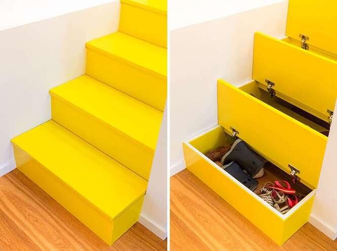 Essa escada pode ser a solução para a falta de espaço