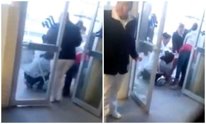 Vídeo flagra momento em que mãe dá à luz na porta de hospital