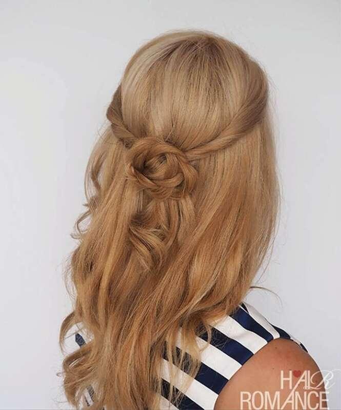 Belos penteados para mulheres com cabelos longos tentarem