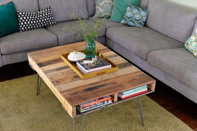 Maneiras de usar paletes de madeira na sua casa