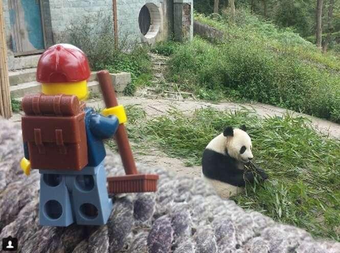 Boneco de Lego viajante faz sucesso no Instagram
