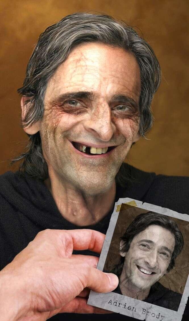 Imagens mostrando como as celebridades ficarão quando forem idosas