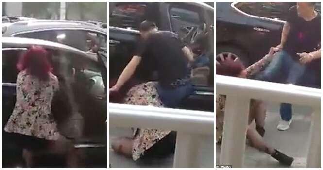 Marido sai em defesa da amante após esposa traída começar a atacar a mulher no meio da rua