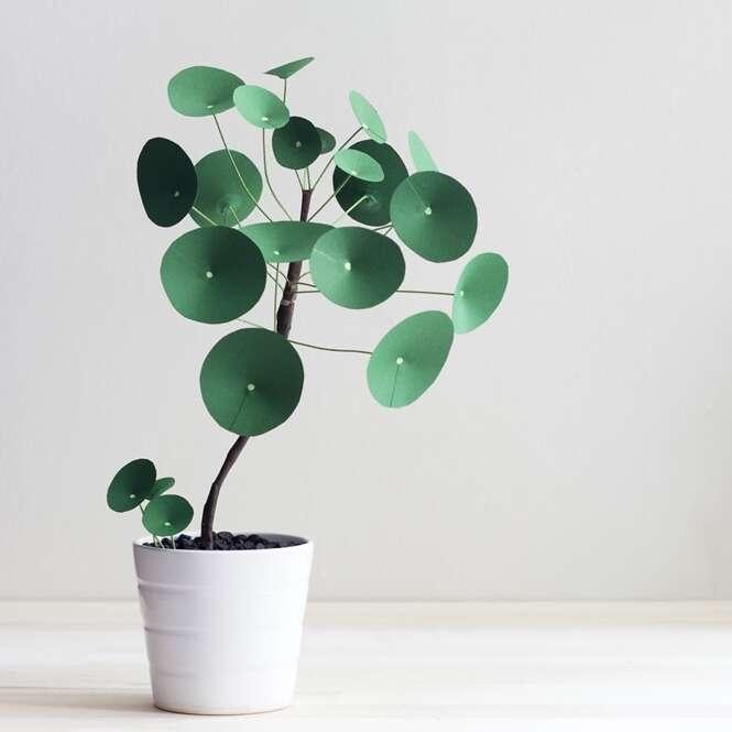 Belas plantas feitas de papel