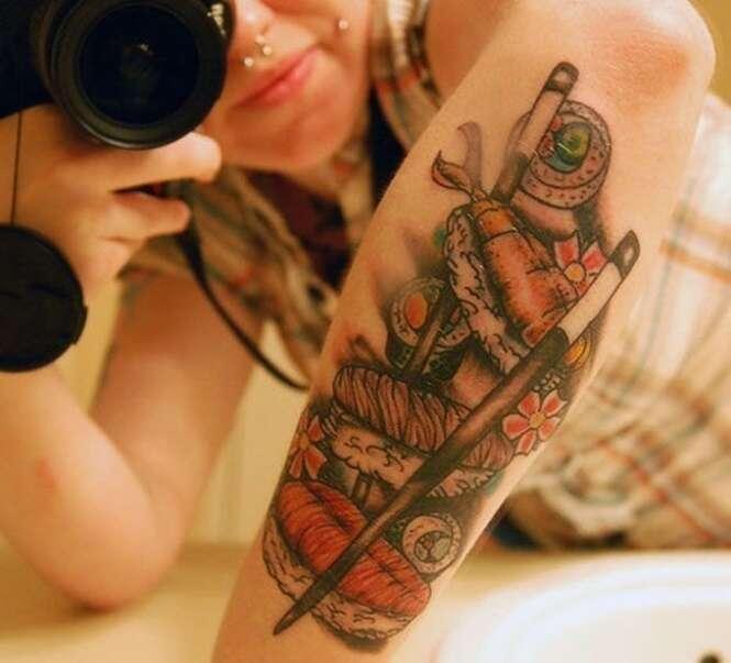 Tatuagens para quem ama comida