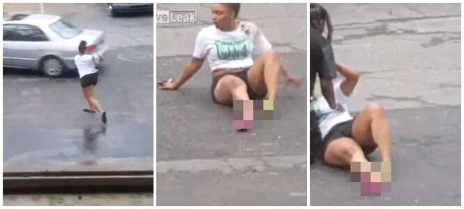 Mulher é atropelada pela amante de seu namorado durante briga
