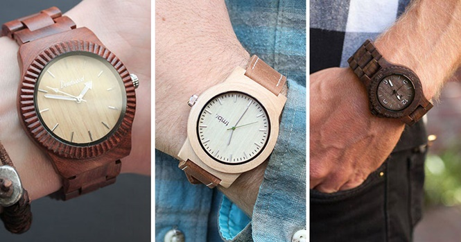 Relógios incríveis feitos de madeira
